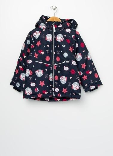 Name It Name It 13168571 %100 Polyester Çok Desenli Kız Çocuk Maxi Jacket Badges Ceket Lacivert